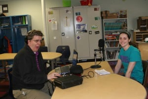 Teresa Scheel, New Community School middle school teacher and Ski Anderson, Artistic Media